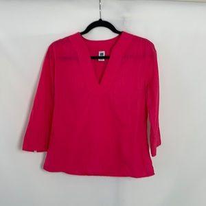 3/$15 Gap Women's Pink Oversized V Neck Top